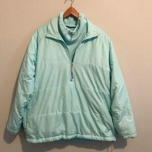 Nike Woman's Light Turquoise Fleece Lined Jacket M